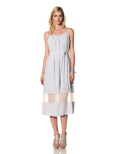 Thakoon Addition Women's Belted Dress with Chiffon Panel (Cloud)