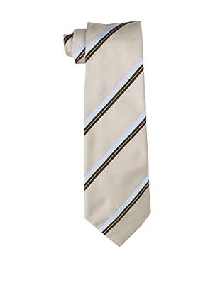 Valentino Men's Striped Tie, Cream/Brown