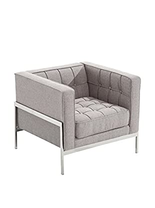 Armen Living Andre Contemporary Chair, Gray