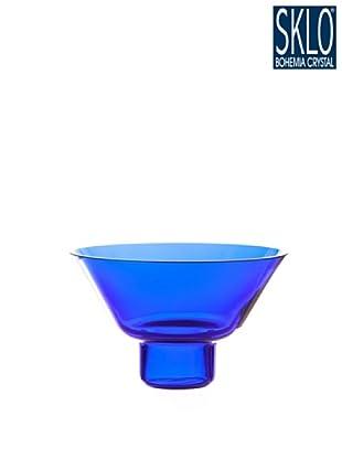 Cristal de Bohemia Portavelas Columna H 15 Cm Azul