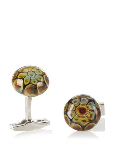 Daniel Dolce Men's Handmade Glass Cufflinks, Brown