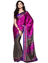 Stylish Sarees In Silk Crape Jecquard Pattan Fabric