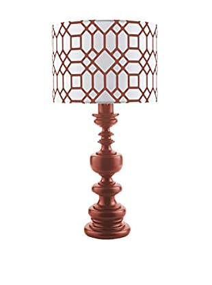Surya Wilson Outdoor Table Lamp, Red