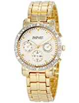 August Steiner Women's ASA841YG Swiss Quartz Multifunction Crystal Watch