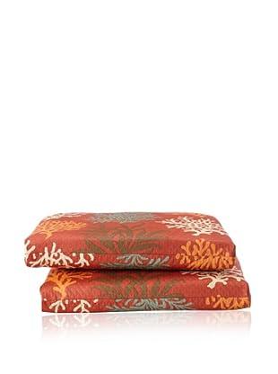 Waverly Set of 2 Sun-n-Shade Marine Life Squared Seat Cushions (Mango)