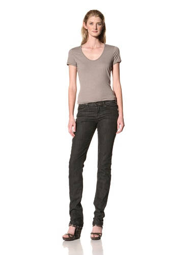 RICK OWENS Women's Berlin Cut Stretch Jean (Drk Shadow)