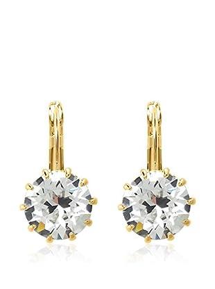 Philippa Gold Pendientes 1 Crystal Xirius metal bañado en oro 24 ct