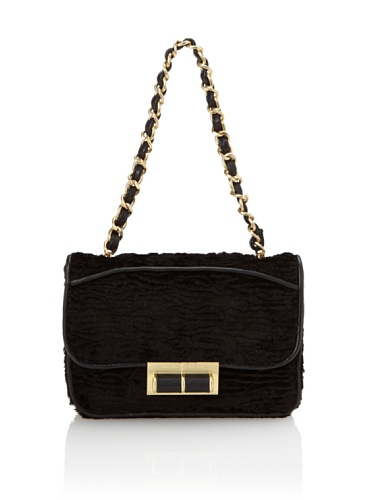 Ivanka Trump Women's Topaz Flap Handbag (Black)