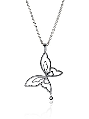 Divas Diamond Collar Diamond Butterfly Plata