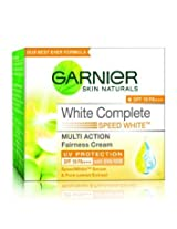 Garnier Skin Natural White Complete Multi Action Fairness Cream SPF 17 PA++ (18g) (Pack of 2)