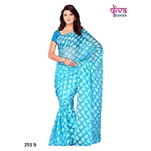 Gracile party::Festival wear saree by diva fashion-surat
