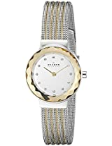 Skagen End-of-Season Analog Silver Dial Women's Watch - 456SGS1