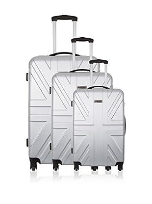 Travel ONE Set de 3 trolleys rígidos Coventry Plata