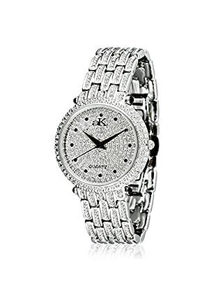 Adee Kaye Women's 9-67L Silver/Crystal Brass Watch
