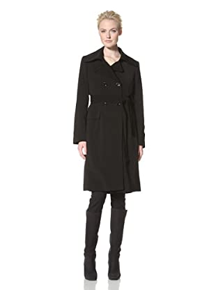 Calvin Klein Women's Double-Breasted Trench with Quilted Lining (Black)