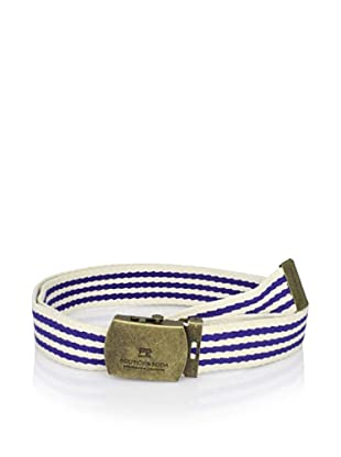 Scotch & Soda Men's Army Belt (White Navy Stripe)