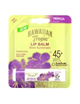 Hawaiian Tropic Lip Balm Spf# 45+ Tropical 0.14oz (3 Pack)