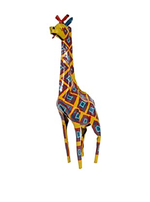 Mbare Painted Tin Giraffe (Multi)
