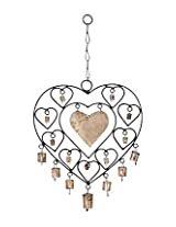 Home Sparkle Heart Wind Chime Cf110