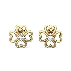 Candere Aaloka Diamond Studded Gold Earring
