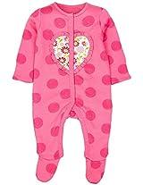 Infant Girls Sleepsuit, Pink (Newborn)