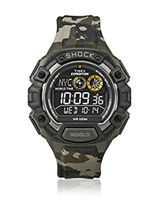 TIMEX Reloj de cuarzo Man Expedition Shock Camo Negative Display Verde Camuflaje 48 mm