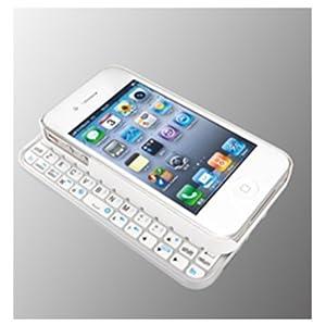 iBUFFALO Bluetooth2.0 コンパクトキーボード iPhone4専用ケース一体型モデル ホワイト BSKBB07WH