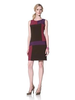 Chetta B Women's Colorblock Dress (Chocolate/Multi)