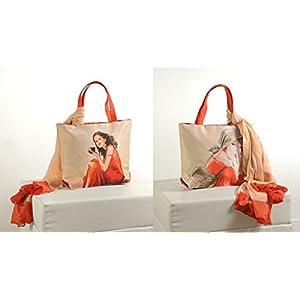 Shopping World Faux Silk With Shiffon Stole Hand Bag - Redwithwhitegirl