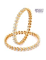 Bangles and bracelets - Sukkhi Alluring Gold & Rhodium Plated AD Bangle