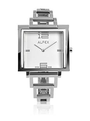 Alfex Quarzuhr 5699_854 36 x 36 mm versilbert