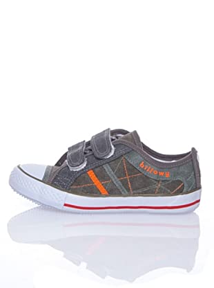 Billowy Zapatillas Lona Velcro (Gris)