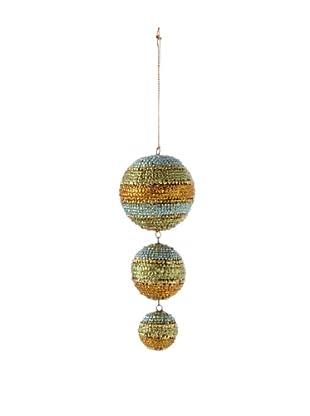 Three-Ball Dangling Ornament, Olive