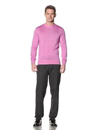 Cruciani Men's Crew Neck Knit Sweater (Washed Fuchsia)