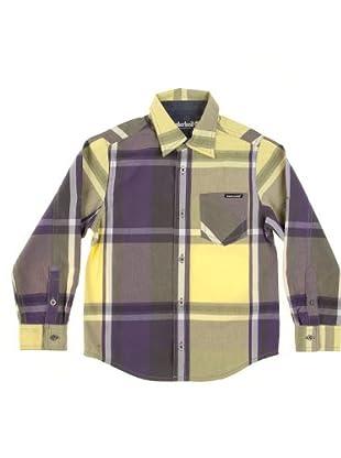 Timberland Kids Camisa Bolsillo (amarillo / morado / gris)
