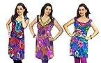 Vivaa Combo of 3 Printed Women Kurtis vvcom161718