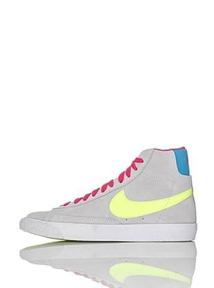 Nike Zapatillas Blazer Mid Vintage (Gs) (Gris Claro/Amarillo)