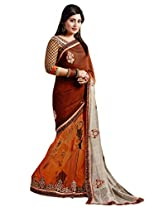 Kvsfab Georgette Saree (Kvs 1307Val _Multi Shaded)