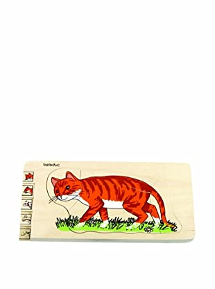 Beleduc Cat 5-Layer Wooden Puzzle
