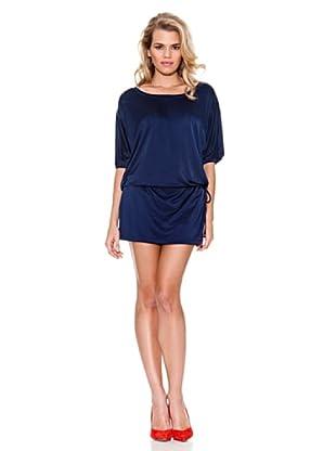 Guess Vestido Satinado (Azul Noche)