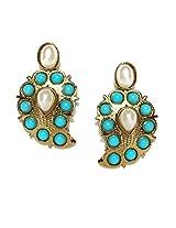 Fida Copper Stud Earring For Women (Blue)