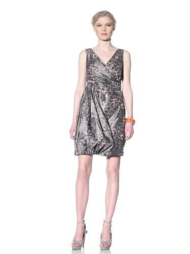 Moschino Cheap and Chic Women's Draped Leopard Print Dress (Leopard Print)