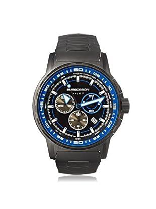 MOMODESIGN Men's MD2164BK20-MB Pilot Black/Blue Black PVD Watch
