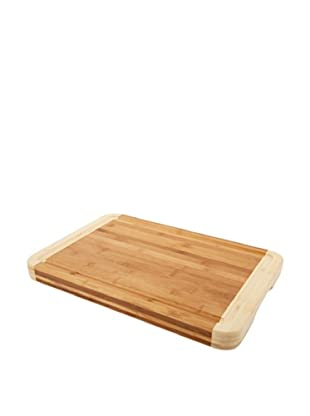Core Bamboo Pro Chef Two-Tone Chop Block, Natural