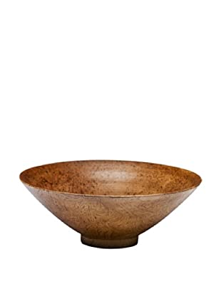 Dynasty Gallery Hand Carved Shuttle Bowl (Brown)