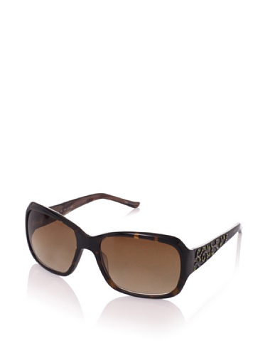 Judith Leiber Women's JL1045A 02 Moroccan Square Sunglasses (Topaz/Brown)