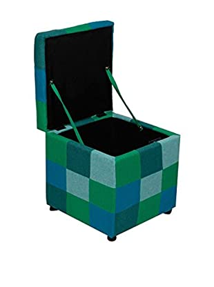 Evergreen House Puff Contenedor Verde/Azul