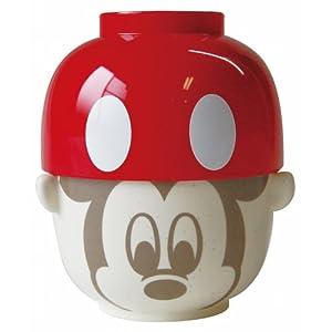 ディズニー ミッキーマウス 汁椀・茶碗セット レッド