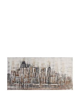 Arte Dal Mondo Lienzo Paolo Rossini Profilo Di Città