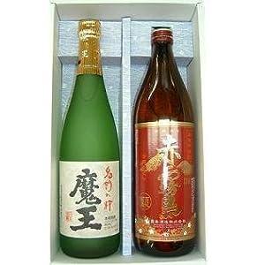 【クリックで詳細表示】芋焼酎 魔王720mlと赤霧島900mlセット: 食品・飲料・お酒